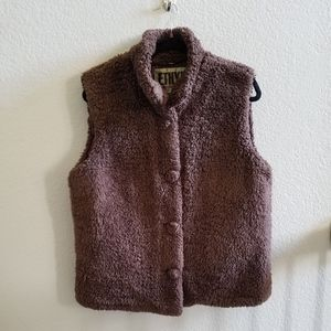 Teddy Bear Button Up Vest with no pockets